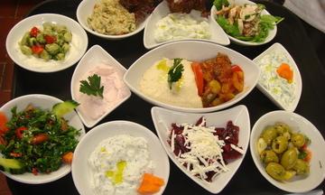 Menu image, SPECIAL  MEZE  MENU Vegetarian, Meat and Fish Mezedhes