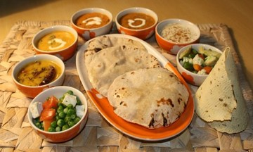 Menu image, A complete Indian meal
