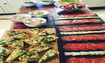 Menu image, Tapas and paella