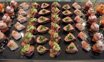 Menu image, Canapes and Live Sushi party!
